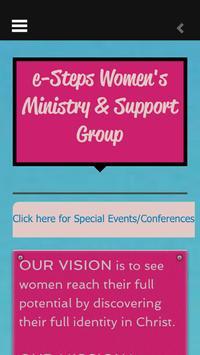 eSteps Women's Support Group poster