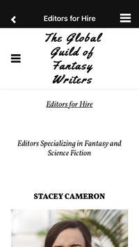 Fantasy Writers Guild apk screenshot