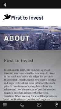 First to invest apk screenshot