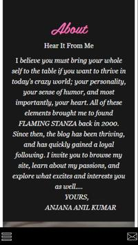 FLAMING STANZA poster