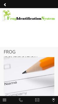 Frog Identification System apk screenshot