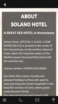 HOTEL SOLANO CRETE apk screenshot