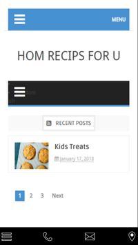Hom recips for u poster