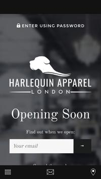 Harlequin Apparel poster
