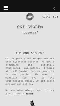 ONI STORE poster