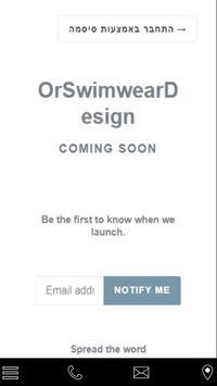 Or Swimwear Design poster