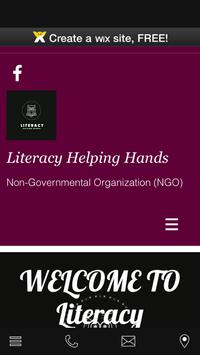 Literacy Helping Hands poster