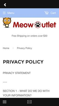 Meow Outlet poster