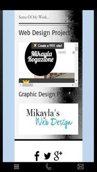 Mikayla's Web Design poster