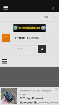 My Favorite Online Store screenshot 1