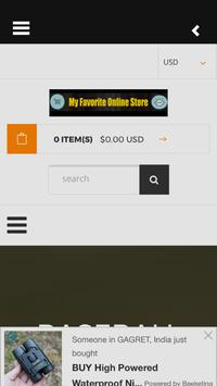 My Favorite Online Store screenshot 2