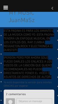 MY MUSIC JuanMaSz poster