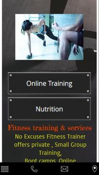 no excuses fitness trainer poster