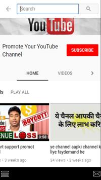 pramote your youtube channel poster