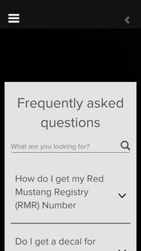 Red Mustang Registry apk screenshot