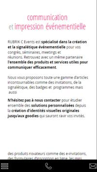 RUBRIK EVENTS poster