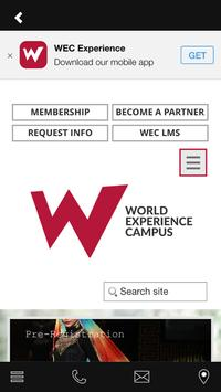 WORLD EXPERIENCE CAMPUS poster