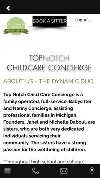 Top Notch Babysitters screenshot 1