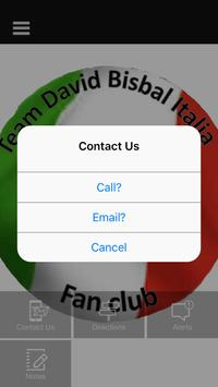 TEAM DAVID BISBAL ITALIA FC apk screenshot