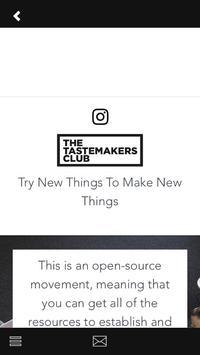 The Tastemakers Club apk screenshot