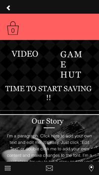 THE VIDEO GAME HUT apk screenshot