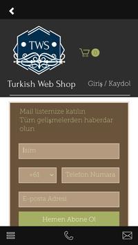Turkish Web Shop screenshot 1