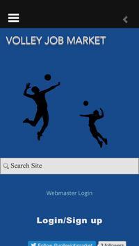 volley job market poster