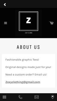 Zoxy Clothing apk screenshot