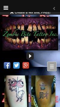 Zombie Bite Tattoio Inc poster