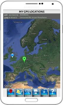 Latitude Longitude Coordinates apk screenshot