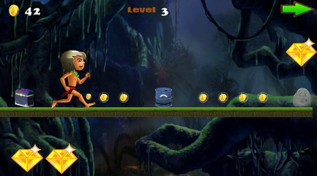 Jungle Kid Run - free screenshot 1