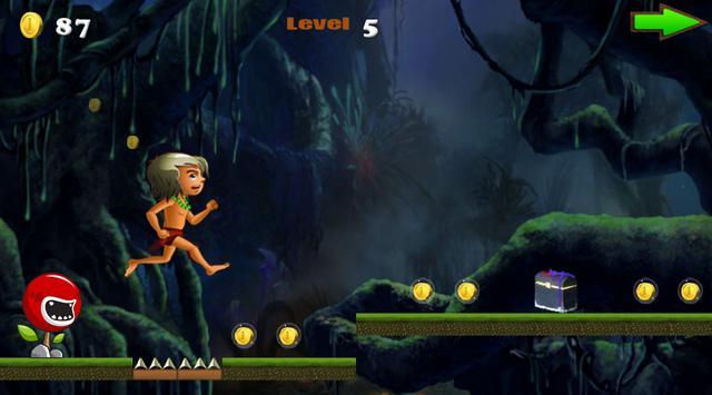 Jungle Kid Run - free screenshot 2