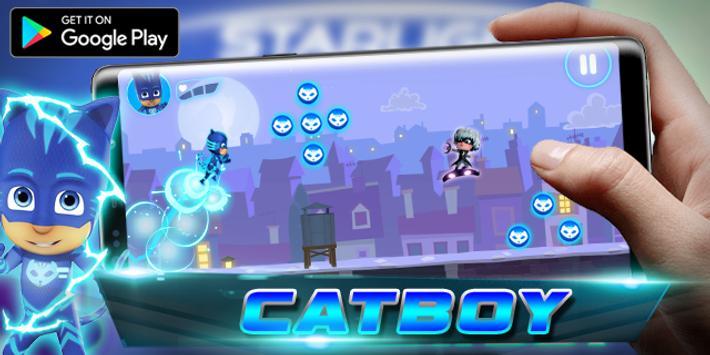 PJ catboy - Masks Run Adventure poster