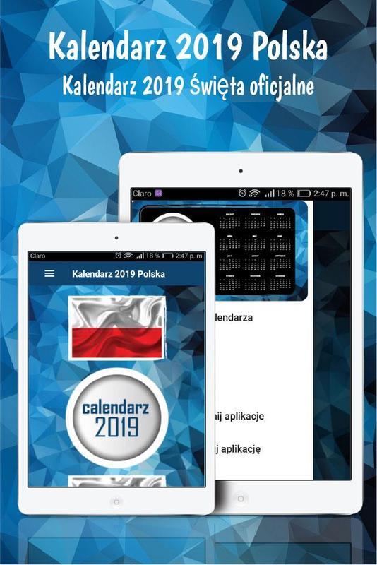 Kalendarz 2019 Polska Kalendarz 2019 Z Tygodniami For Android Apk