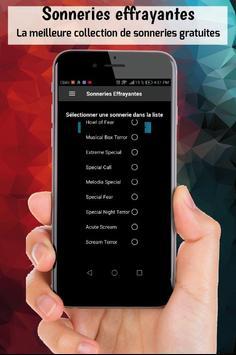Sonneries effrayantes sonneries gratuite telephone screenshot 1