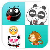 Cute emoticons Stickers icon