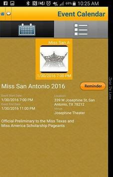 Miss San Antonio Organization screenshot 1