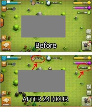Easy hack for clash of clans app 999% gems (Prank) poster