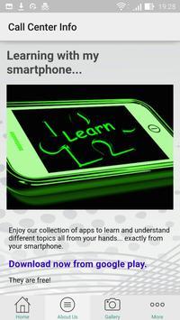 Call Center Info App apk screenshot