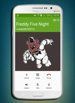call from five night freddy NEW PRANKS 2017 poster