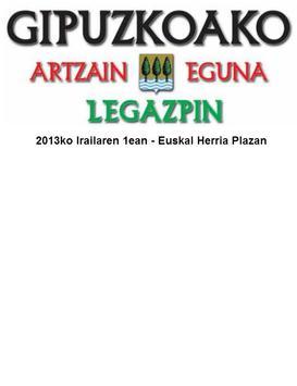 Legazpiko Artzain Eguna 2013 poster