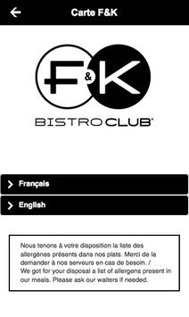 F&K Bistroclub apk screenshot