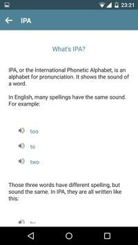 English Pronunciation apk screenshot