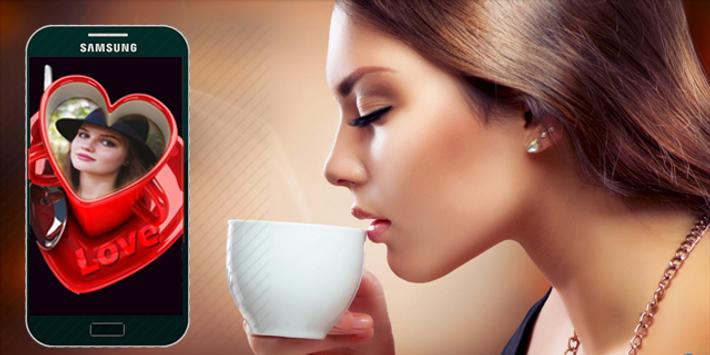 Coffee Cup Photo Frame poster