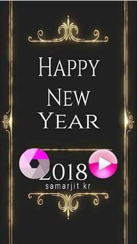 Happy New Year 2018 Photo Editor poster