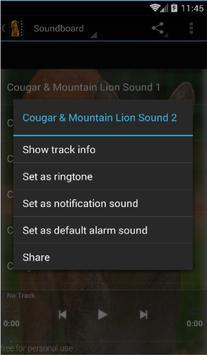 Cougar Sounds and Ringtones apk screenshot