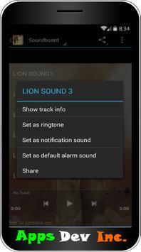 Lion Sound and Ringtones apk screenshot