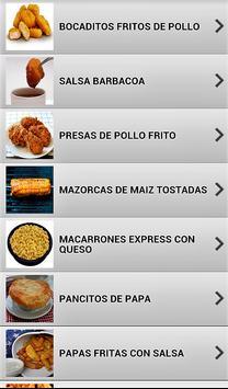 Comida rápida fácil screenshot 5