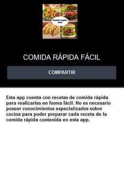 Comida rápida fácil screenshot 7