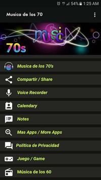 Musica de los 70 screenshot 1